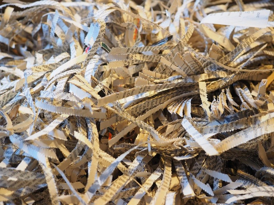 Image of shredded paper (attorney work product vendors)