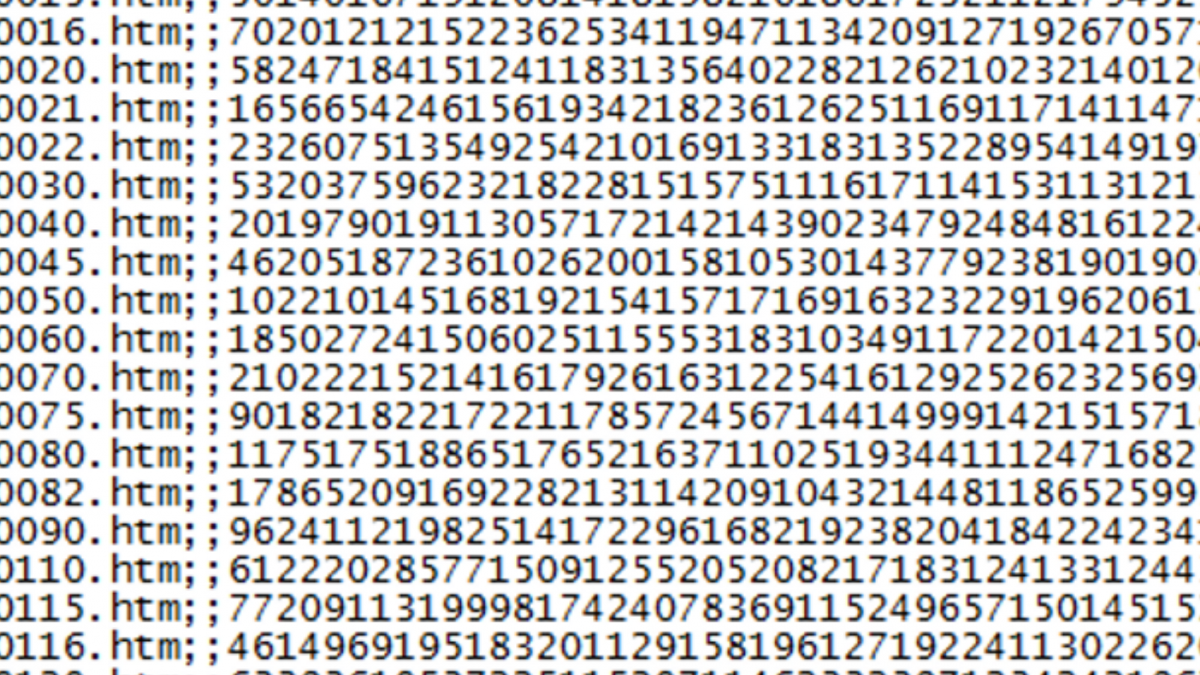 Image of computer file hash values for article on Percipient blog